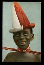 Ethnic Full Dress in Dahomey Tuck Oilette #6950 Boy early PPC