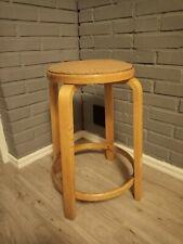 Rare Alvar Aalto Artek (Pascoe) Bar stool 64 1940s Paper woven string