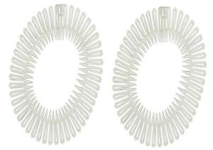 Stretch Zigzag Hair Band Headband CLEAR Flexi Comb Headbands 1 pair [UK seller]