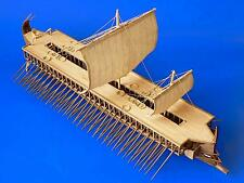 "Traditional, Detailed Wooden Model Ship Kit by Dusek: the ""Greek Trireme"""