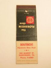 Old matchbook cover: ad for Doutrich's Store/ Floresheim Shoes, Harrisburg, PA