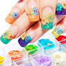 Nail Art Dried Flowers 3D Decoration Preserved Flower Colorful  DIY Tips