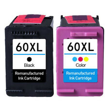 2x Ink Cartridges for HP 60 XL Deskjet D1660 D2530 D2680 D2545 F2430 F4210 F4480