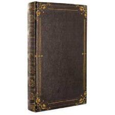 Book Box Hidden Jewelry Secret Fake Faux Vintage Treasure-  Black Antique Lined