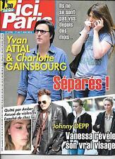 ICI PARIS N° 3700--YVAN ATTAL & GAINSBOURG SEPARES/DEPP & HEART VIOLENCES