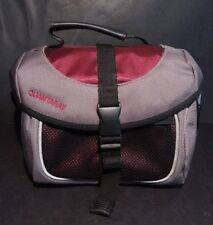 Quantaray Camera And Accessories Bag Gray Purple Black