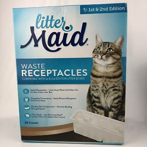 LitterMaid Waste Receptacles 18 Count 1st 2nd Edition Self-Cleaning NEW