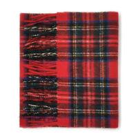 GREAT GIFT : 100% Lambswool Scottish Tartan Scarf - ROYAL STEWART