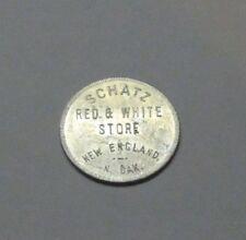 Merchant Good for $1 Trade Token Schatz Red White Store New England North Dakota