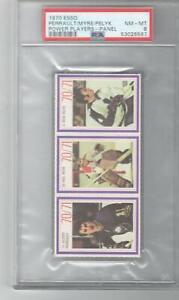 1970 Esso Power Players Rare Panel PSA 8 Myre/Pelyk/Gilbert Perreault Rookie