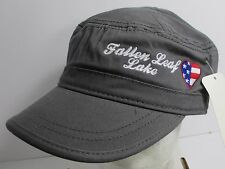 Fallen Leaf Lake Hat Cap Cadet Style Flat Top USA Embroidery  Unisex New