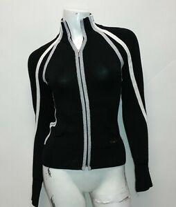 Bebe Sport Women's Black Sport Long Sleeve Zip up Shirt Size Small