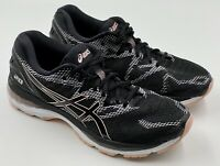 Asics Gel Nimbus 20 Womens Size 10 T850N Black/Baby Pink Athletic Running Shoe