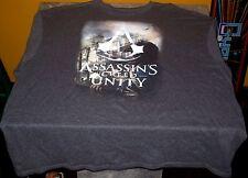Asassins Creed Unity - Key Art Apparel T-Shirt XXL - Charcoal - Free US Shipping