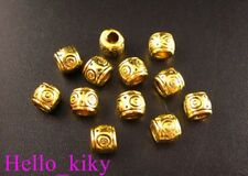 80PCS Antiqued gold plt wirlpool-drum spacer beads 6mm A89G