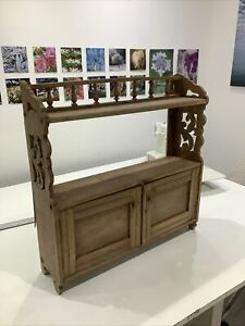ANTIQUE VINTAGE  NATURAL WOOD WALL CUPBOARD