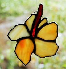 Handmade HIBISCUS Stained Glass SUNCATCHER FLoral Gifts All Colours Available