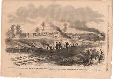 1862 Leslie's Weekly June 21-Corinth Mississippi Evacuates - City burns