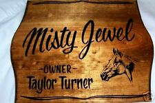 STABLE/STALL SIGN PERSONALIZED w/ HORSE & OWNERS NAMES
