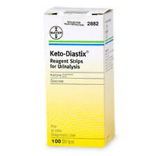 Keto-Diastix Reagent Strips For Urinalysis ,Glucose, and Ketones 100 Each