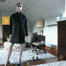 J Crew Collection Double Cloth Black Trench Coat NWT $450 Size 6 8 10  #B1650