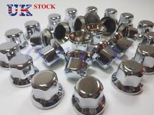 60x 33mm Lux Plastic CHROME Wheel Nut Cover Caps fit Truck Scania Mercedes Volvo