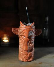 Totem Pole Cocktail Vessel Ceramic Drink Mug Cup Gift Barcart Drinking