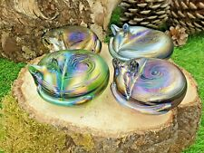 More details for neo art glass cat paperweight sculpture ornament choose colour by k. heaton new