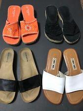 038620362ff07 Size 5 6 Lot Of 4 Greece Sandals Slides Flip Flops Summer Slip On Leather