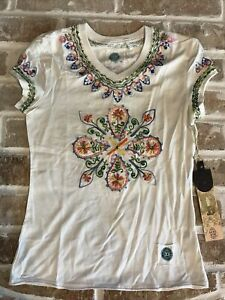 DOUBLE D RANCH WEAR BEADED KNIT SHIRT NWT ADORABLE