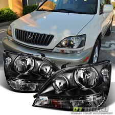 Black 1999-2003 Lexus RX300 RX-330 Headlights Headlamps Lights Left+Right 99-03