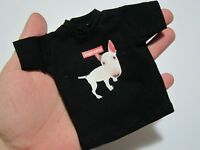 """1/6 Scale Tee Black Short Sleeves T-Shirt Dog For 12"""" Action Figure"""