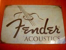 Plaque FENDER guitare ACOUSTIC GUITAR Metal Plate folk acoustique classique