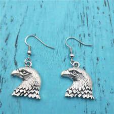 bald eagle Silver earrings,women Fashion pendants ear stud handmade jewelry