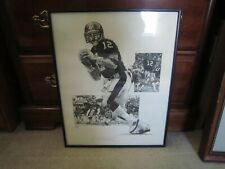 TERRY BRADSHAW #12 PIttsburgh Steelers Limited Edition Artist Signed FRAME PRINT
