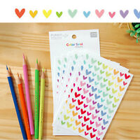 6pcs/sheet Rainbow Sticker Diary Planner Scrapbook for Photo and Phone B Hs