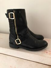 Nine West Girls Leather Moto Booties Size 1