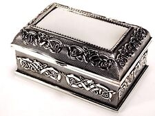 Stunning Design Silver Color Jewellery Trinket Treasure Chest / Box Design #12