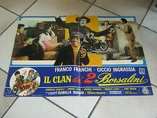 FOTOBUSTA,IL CLAN DEI 2 BORSALINI,FRANCO FRANCHI CICCIO INGRASSIA,MOTO GUZZI