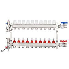 10 Branch Radiant Floor Heating Stainless Steel Resist 34 Pex Manifold Set
