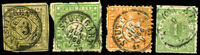 GERMAN States WURTTEMBERG Stamps Postage Collection Stuttgart Cancel Used