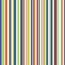 Stripes Wallpaper Children's Boys Bedroom Orange Blue Green White Stripey Kids