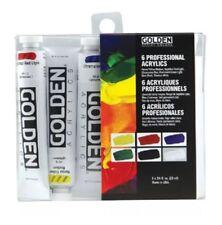 Golden Artists Color 6 Tubes Professional Heavy Body Acrylic Paints - 6x 22ml
