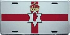 NORTHERN IRELAND COUNTRY FLAG EMBOSSED METAL LICENSE PLATE CAR TAG NEW #846