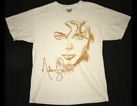 MICHAEL JACKSON Size Medium White T-Shirt