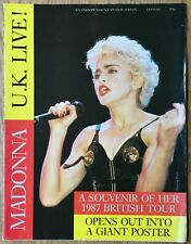 Madonna  UK Live  1987 British Tour  -  Fold-Out Photo Booklet Poster