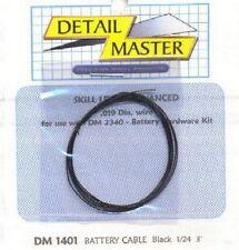 DETAIL MASTER 1/24-1/25 2ft. Battery Cable Black DET1401