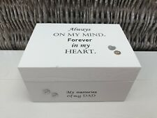 Personalised In Memory Of Box Loved One ~ DAD ~ FATHER any Name Bereavement Loss