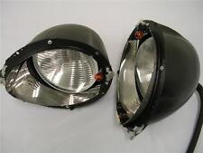1937 1938 1939 Ford Headlight Kit + Glass Fluted Lenses + Stainless Trim Rings