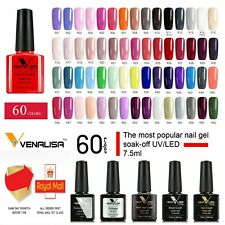 NAIL GEL POLISH Venalisa 60 COLOURS Nails UV LED SOAK OFF BASE TOP COAT QUALITY